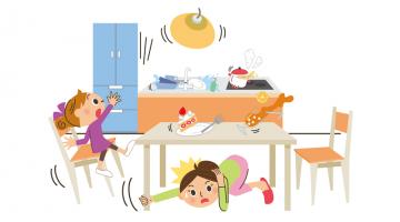 今ある家具に付けられる、耐震用品「キッチンダイニング編」
